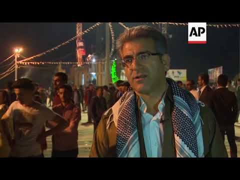 Kurds light torches and fireworks to celebrate New Year