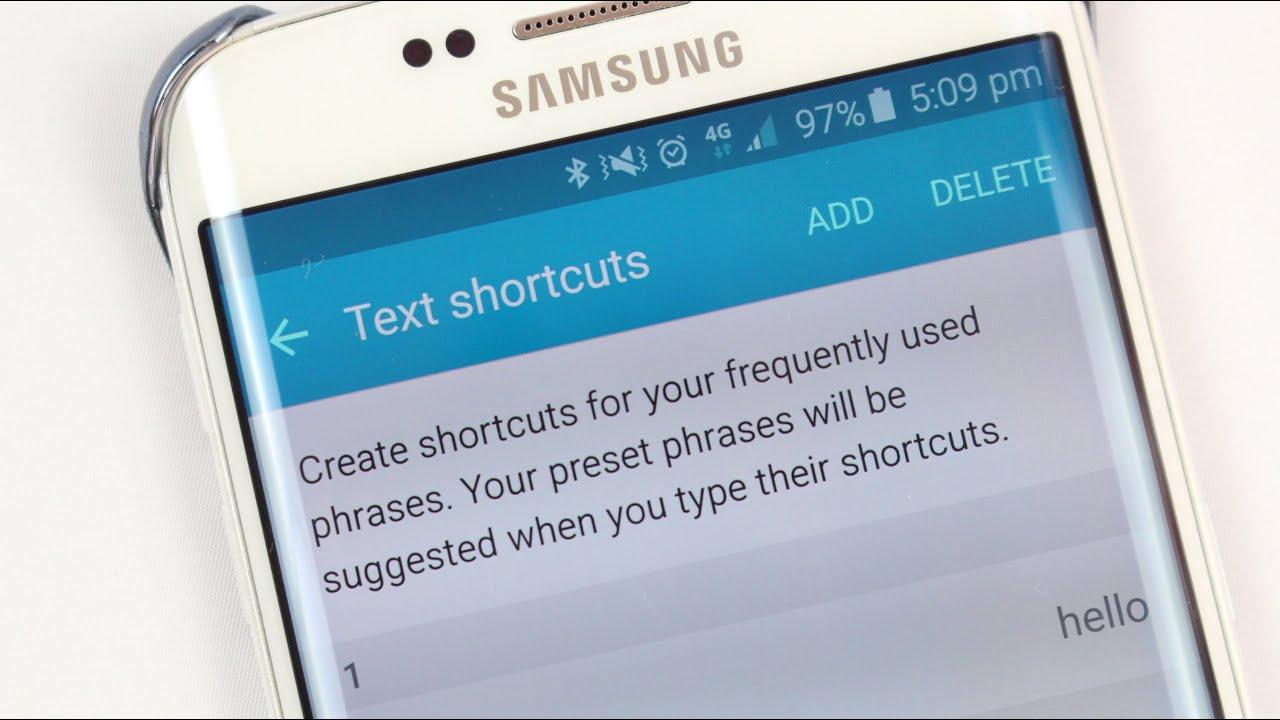 Keyboard Shortcuts on Galaxy S6 / Edge