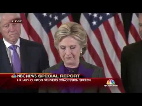 Hillary Clinton's Full Concession Speech (Tears Up)  |  NBC News