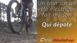 Essai vélo avec kit électrique pas cher