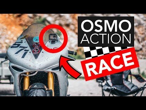 DJI OSMO ACTION RACE BIKE 300km/h  Circuit Drive  4K 60p ROCKSTEADY