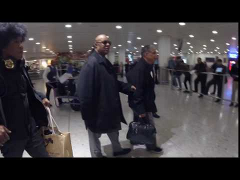 Stevie Wonder Seen Arriving At Heathrow Airport