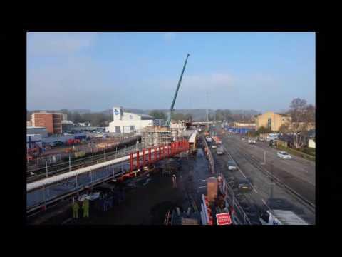 Bristol Guided Busway - Skew Bridge Construction Time Lapse 2