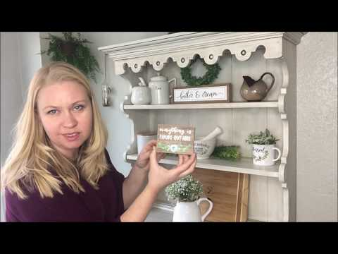 Decorate With Maria Guild, How To Style A Kitchen Shelf/hutch