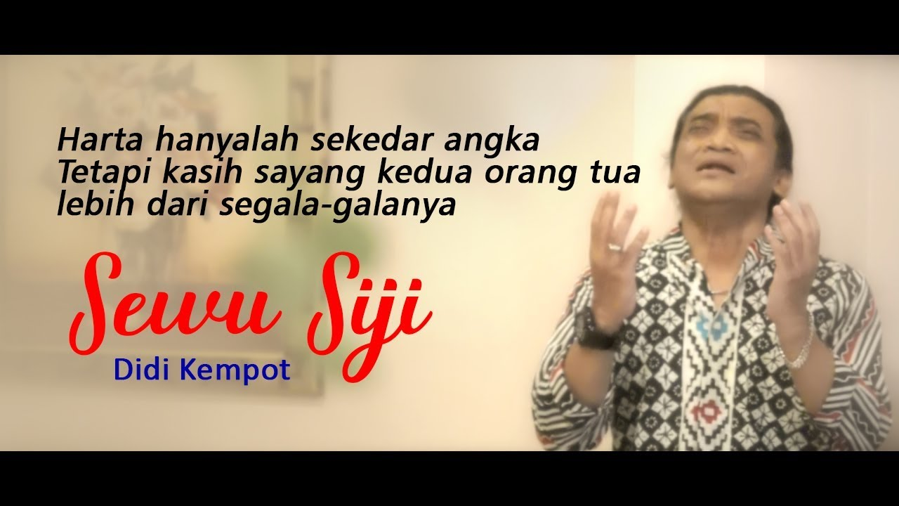 Didi Kempot Sewu Siji Official Youtube