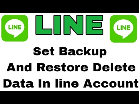 LINE: Free Calls & Messages || How To Set Backup And Recover Delete Messages On Line Account