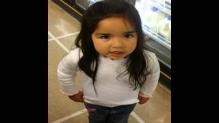 3 year old scolds dad in store