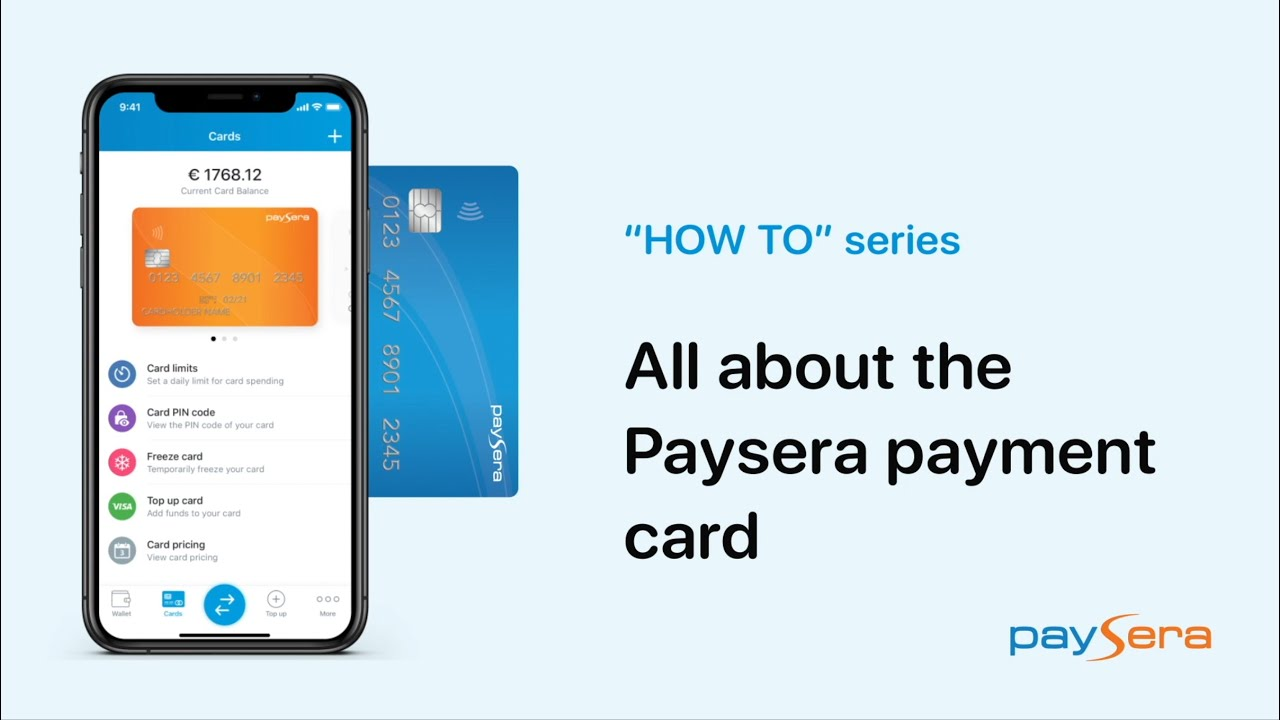 Paysera payment card
