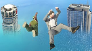 GTA 5 Water Ragdolls/Falls episode 2 [Flooded Los Santos]