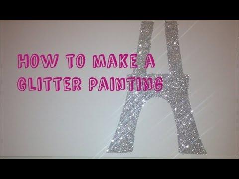 DIY Glitter Canvas