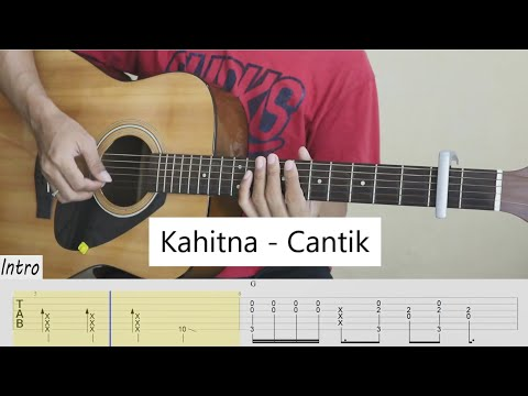 (TAB) Kahitna - Cantik - Fingerstyle Guitar Cover - Tab Tutorial.