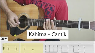 Download lagu (TAB) Kahitna - Cantik - Fingerstyle Guitar Cover - Tab Tutorial.