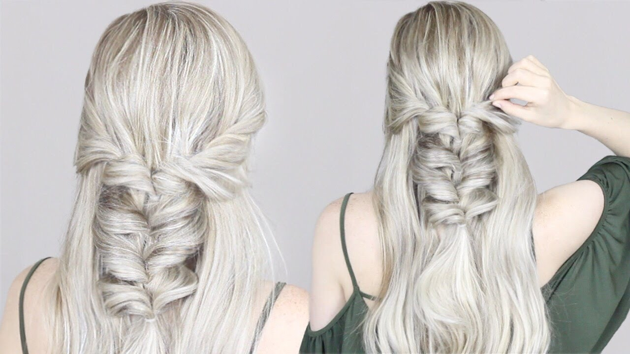 HOW TO: Half-up Half-down Hairstyle | Twisted Pull-Through Braid ...