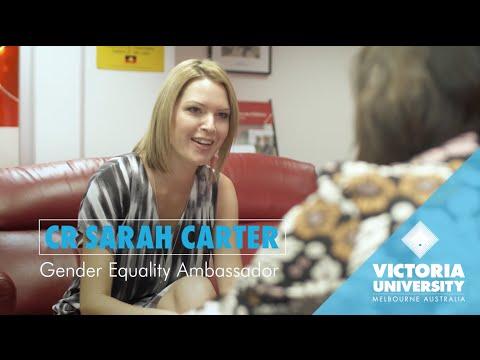 VU alumna  Sarah Carter