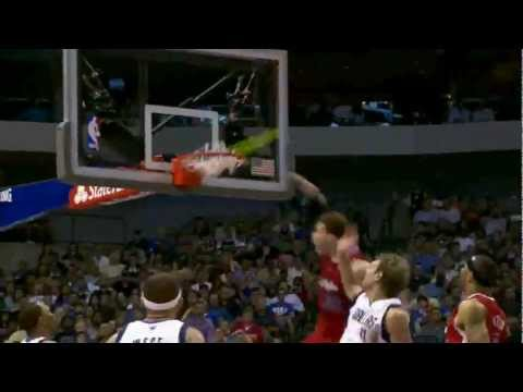 Blake Griffin 3 tremendous dunks (incredible follow dunk) vs Dallas Mavericks 04.02.2012