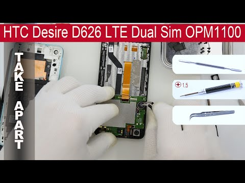 How to disassemble 📱 HTC Desire D626, D626ph, 626G (OMP1100, 0P9C100,0PKX210) Take apart