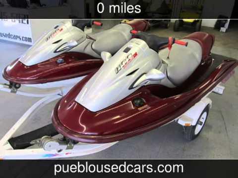 2000 kawasaki 1100 stx di 130hp jet ski - pair of two w/trailer 1
