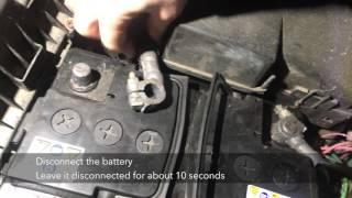 Citroen Xantia Alarm Reset