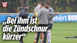 Boateng beeft sich mit Dardai im Hertha-Training |Reif ist Live