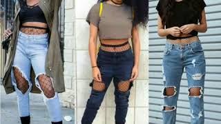Outfits Tumblr Con Pantalones Rotos Youtube