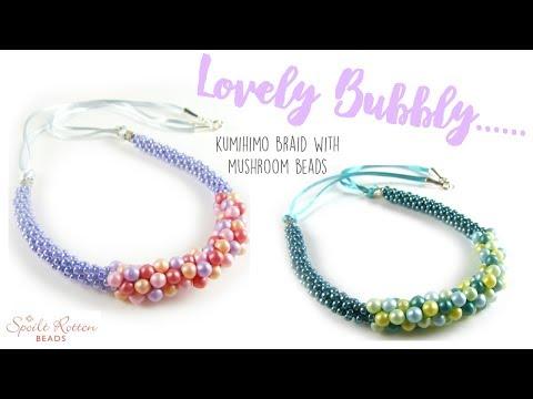 Lovely Bubbly Kumihimo Necklace