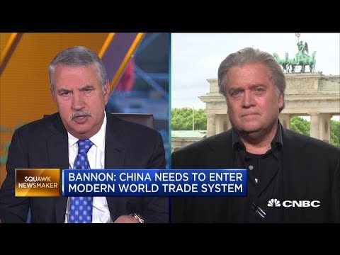 Steve Bannon Trump Is Doing The Right Thing In Challenging China Youtube