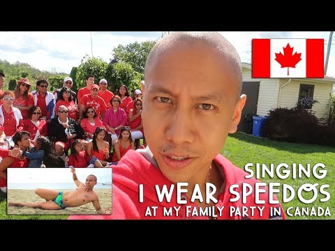 "Singing ""I WEAR SPEEDOS"" at My Family Party! 