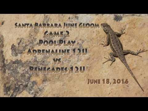 Santa Barbara June Gloom Game 2 Adrenaline vs Renegades