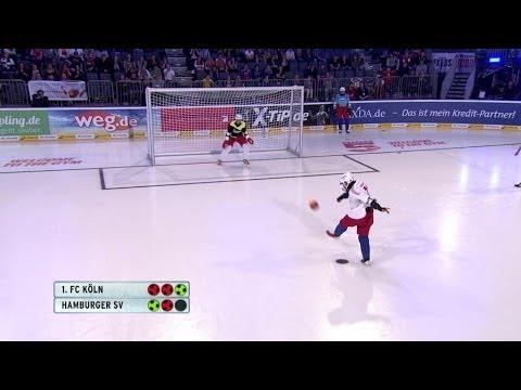 1. Halbfinale: 1. FC Köln vs. HSV - Deutscher Eisfußball Pokal