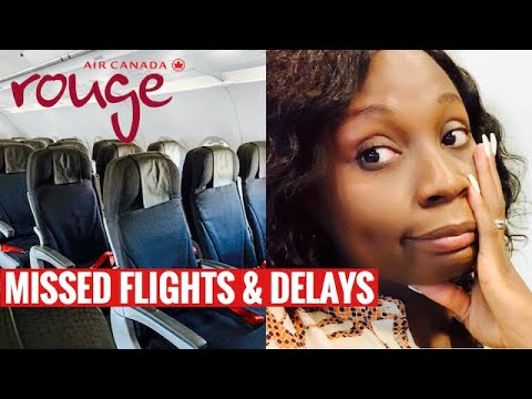 Air Canada Rouge A321 ECONOMY CLASS | How Air Canada Handles Delays & MISSED FLIGHTS