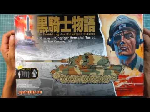 Cyber Hobby 1/35 King Tiger Unboxing.