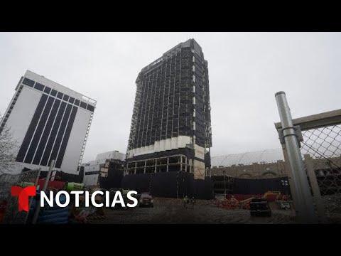 EN VIVO: La implosión de Trump Plaza en Atlantic City | Noticias Telemundo