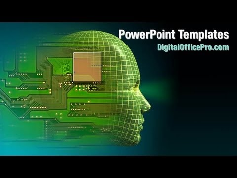 Artificial Intelligence Brain Powerpoint Template Backgrounds