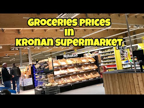 Groceries Prices in Iceland's Kronan Supermarket