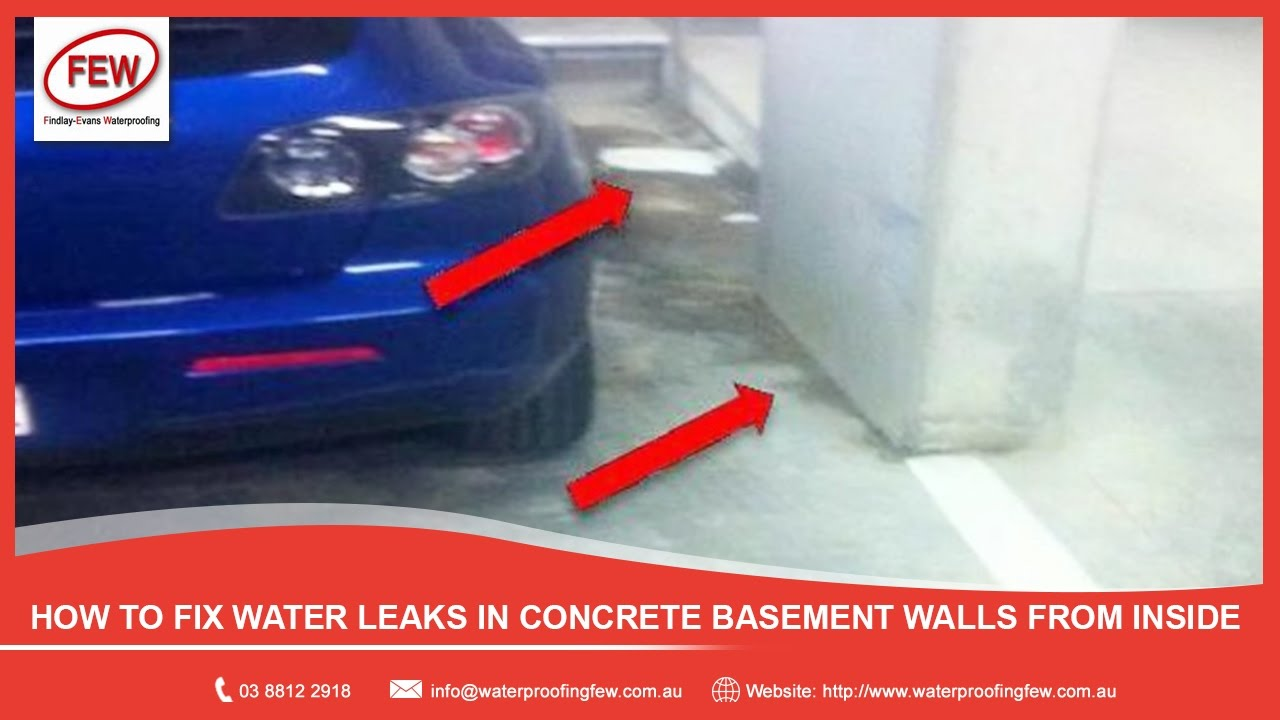 How To Fix Water Leaks In Concrete Basement Walls From