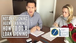 How to do a Loan Signing as a Notary Public - Notary Signing Agent Training - Loan Signing System