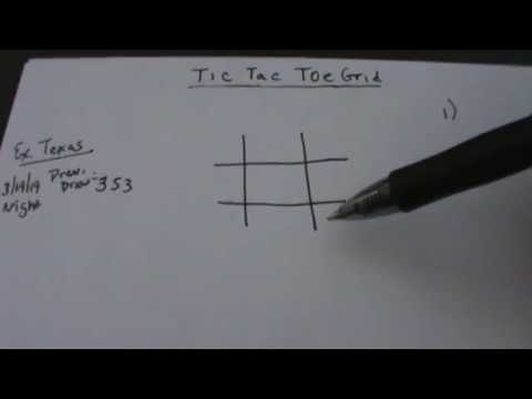 Lottery Pick 3 Tic Tac Toe Grid - How Do You Use It?