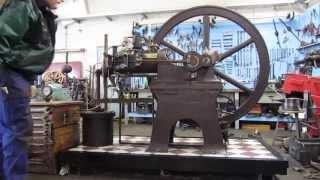 Hille Motor Schieber Gasmotor slide valve stationary gas engine