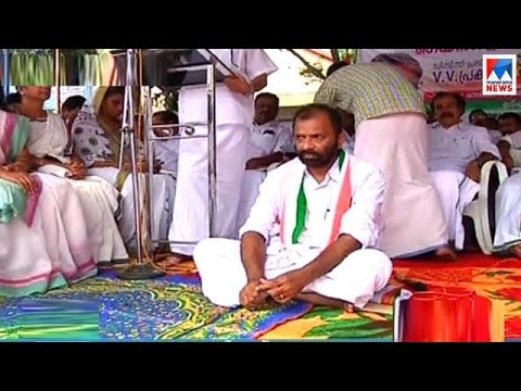 Fasting strike by Malappuram DCC  president With support to Gail Protesters