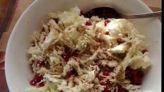 Салат для ПОХУДЕНИЯ из ПЕКИНСКОЙ КАПУСТЫ с кунжутом и брусникой