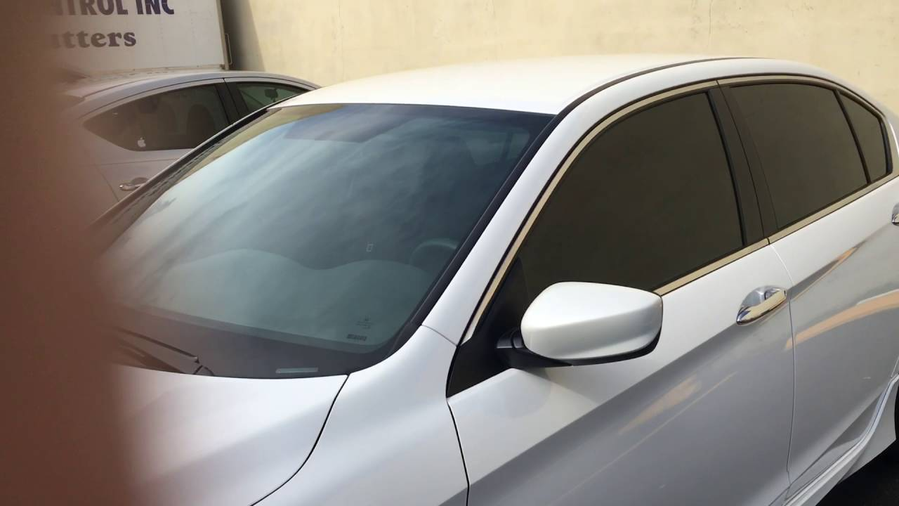 Honda Accord Sport >> 2017 Honda Accord sport window tinted with 5% black @ 3M MIAMI WINDOW TINTING - CARS - YouTube