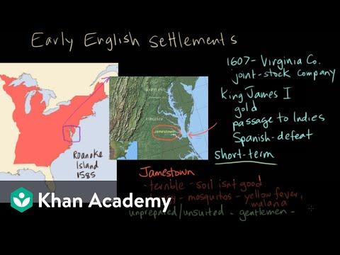 Early English settlements - Jamestown