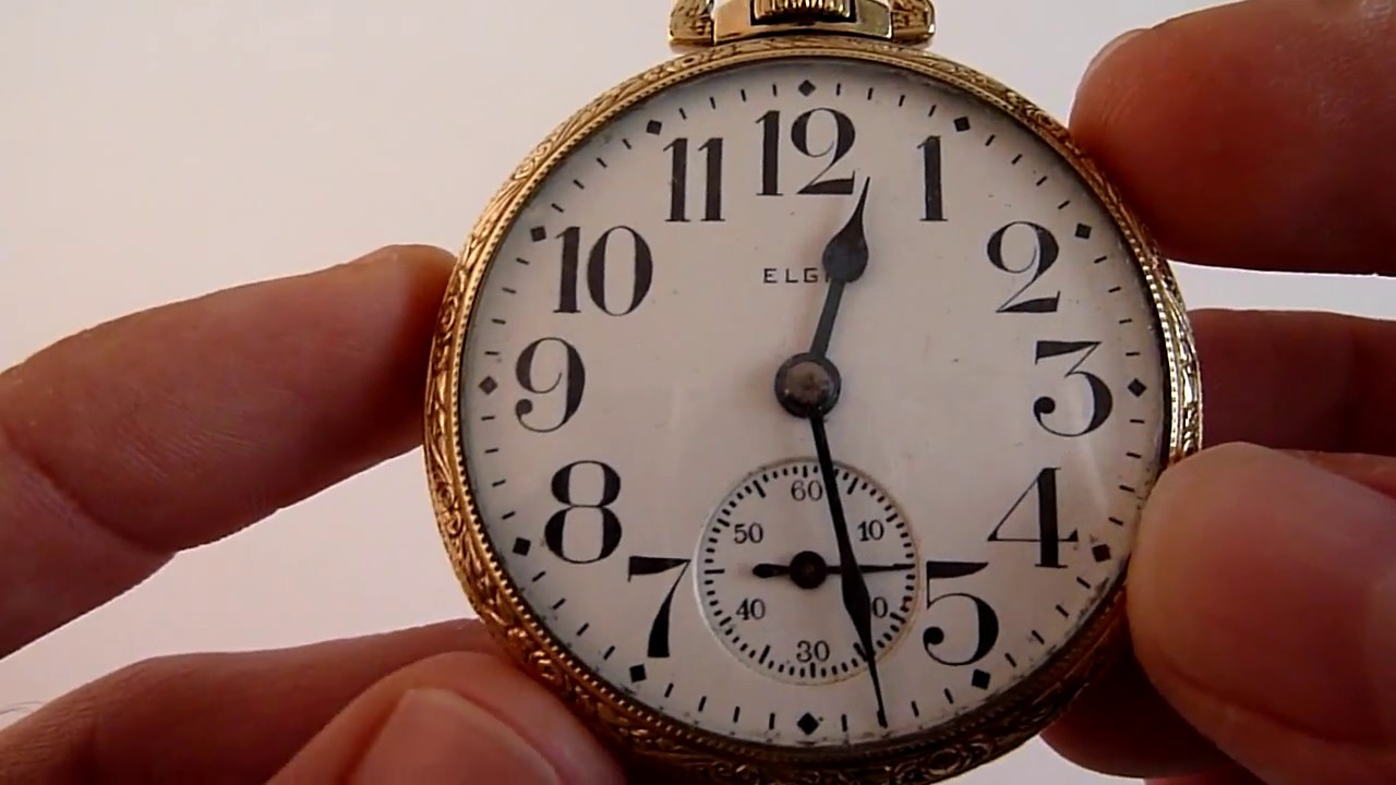 f18008b7a A LA VENTA) Reloj De Oro de 14 k. Gold Filled Marca ElGIN / Bolsillo ...