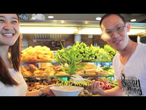Eating local Yong Tau Foo in Singapore