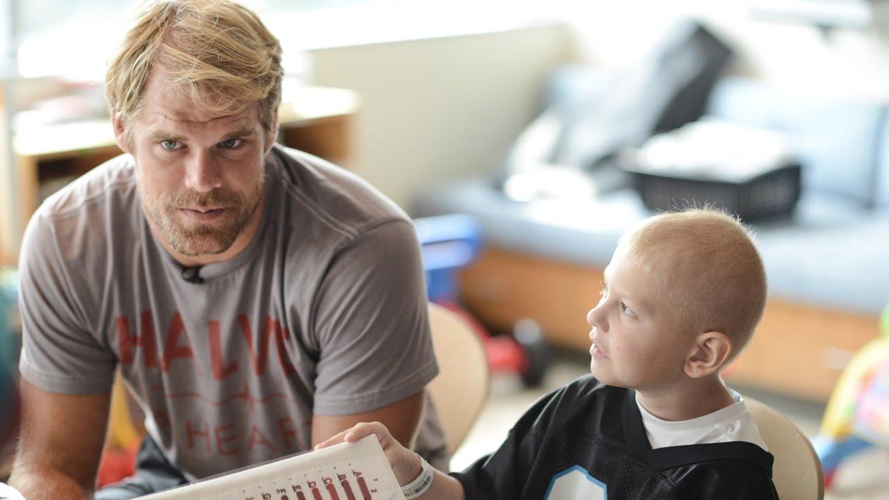 677f0051b Greg Olsen and New Era visit Levine Children's Hospital - YouTube