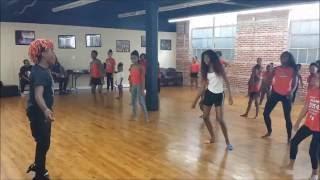 part 1 yvngswag teaching how to reverse nae nae abm dance team
