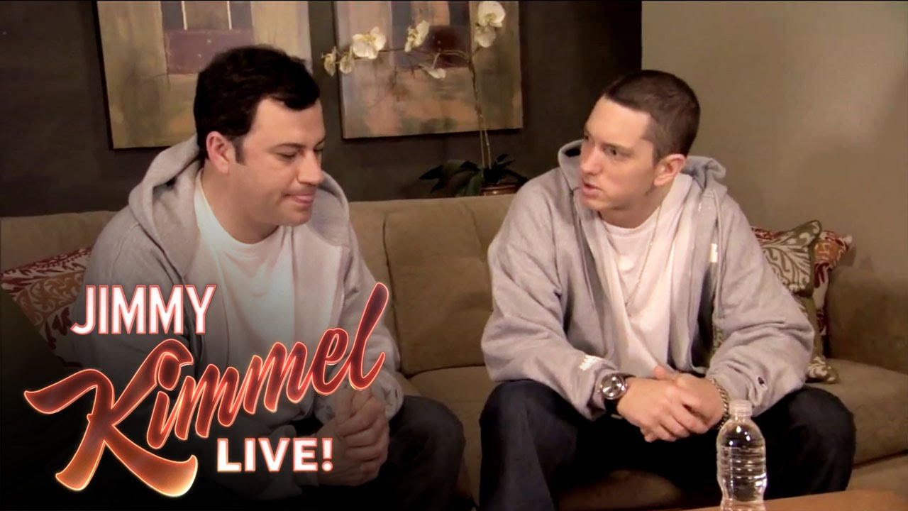 Eminem Teaches Jimmy Kimmel to Rap