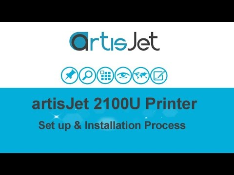 UED 2100U UI 0001 artisJet 2100 Printer Set Up and Installat