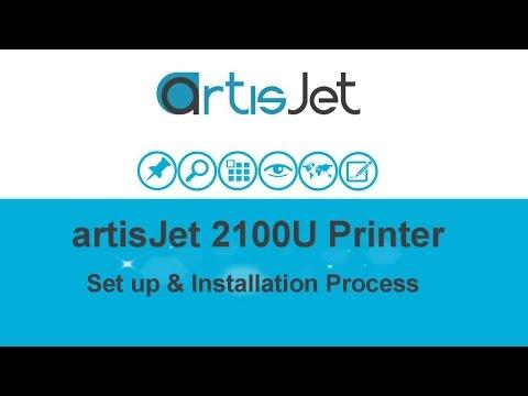 UED 2100U UI 0001 artisJet 2100 Printer Set Up and Installation Process