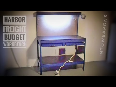 Harbor Freight Workbench with Lighting:  Budget Bench Review